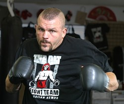 COOLING OFF :  The Central Coast's own Chuck Liddell recently announced an end to his ultimate fighting. - FILE PHOTO