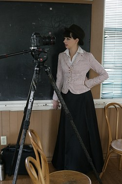 ASSISTANT DIRECTOR :  Sarah Linn, wife of director Chris Daly, is also dressed to be an extra. - PHOTOS BY GLEN STARKEY