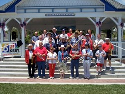RED, WHITE AND TRUE BLUE:  The Village Band will present a program of stirring patriotic and popular music while the South County Historical Society sets the mood with traditional red, white, and blue decorations, and period costumes at Arroyo Grande's July 4 celebration. - PHOTO COURTESY OF THE VILLAGE BAND