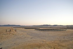 JUST THE BEGINNING? :  A test array of solar panels may be as far as SunPower's California Valley Solar Ranch project gets if a lawsuit filed by local environmental groups is successful. - FILE PHOTO BY STEVE E. MILLER