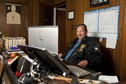 TOUGH :  Lynn Swenson is head of Teamsters local 381 on Bunny Avenue in Santa Maria. - PHOTO BY AMY ASMAN