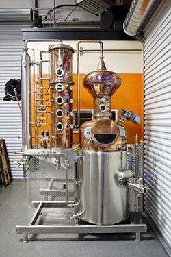 THE LITTLE DISTILLERY THAT COULD :  Tap It Brewing in San Luis Obispo is poised to become the 22nd registered micro-distillery in California. - PHOTO BY STEVE E. MILLER