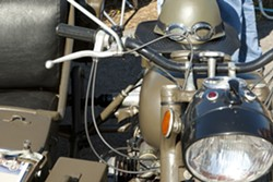 CUSTOMS!:  You'll see bikes doctored up to look military, bikes that have customized into café racers, and more. - PHOTO BY STEVE E. MILLER