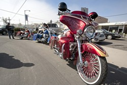IRON HORSE :  Hundreds of bikes of all kinds, including this tricked out Harley with the sexy paint job, could be found in Pismo Beach last weekend during the Pismo Beach Motorcycle Classic. - PHOTO BY STEVE E. MILLER