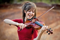 SPRITE:  YouTube sensation and electronica violinist Lindsey Stirling brings her amazing stage show to Vina Robles Amphitheatre on Aug. 6. - PHOTO COURTESY OF LINDSEY STIRLING