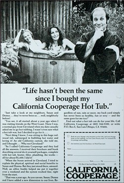 SMART MARKETING:  Branch had a knack for appealing to the right demographic, and when he entered the hot tub business, this ad in Playboy magazine proved to be a winner. - IMAGE COURTESY OF CLIFF BRANCH
