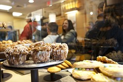 GET 'EM WHILE THEY'RE HOT :  Baked goods at the newly opened Panera Bakery and Café are made fresh each night. - PHOTO BY STEVE E. MILLER