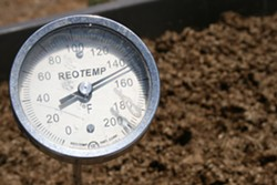 THE HEAT IS ON:  With the right combination of nitrogen, carbon, moisture, and oxygen, a hot compost can quickly climb to 140 degrees Fahrenheit. High temperatures help to kill pesky pathogens while allowing beneficial microorganisms and fungi to flourish. - PHOTO BY HAYLEY THOMAS