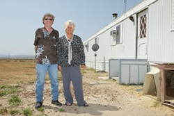 WEBB OF DISTRUST:  Longtime California valley residents David and Ro Webb are part of a suit to get the sheep out of California Valley for good. - PHOTO BY STEVE E. MILLER