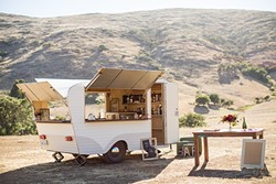 BAR ON THE GO:  Whiskey and June's mobile bar brings classic craft cocktails to you. - PHOTO BY CAMERON INGALLS