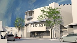 LIKE A GLOVE :  If approved, The Movie Experience, John King, and Rob Rossi plan to build an IMAX theater in downtown San Luis Obispo behind the Fremont Theater. - PHOTO COURTESY OF STUDIO DESIGN GROUP ARCHITECTS