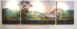 """VIBRANT VISTAS :  Erin Hanson's glowing scenes of Paso Robles make up the current Studios on the Park exhibition """"Colors of Paso."""" - PHOTO BY STEVE E. MILLER"""