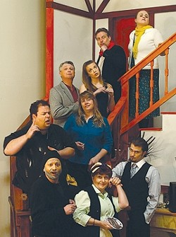 """BEHIND THE SCENES :  In theatrical stage directions, the term """"noises off"""" means sounds that are meant to originate offstage. Noises Off  will be performed at the Black Box Theatre at the Clark Center in Arroyo Grande April 10-26, Thursday, Friday and Saturday at 8 p.m. and Sunday at 2 p.m.$20.There will be discounts: on Easter Sunday, tickets are $10 and on Thursdays it's buy one ticket, get one for half price. Info: clarkcenter.org (under upcoming events) or 489-9444. - PHOTO COURTESY OF CHRYS BARNES"""