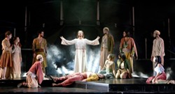 """I DO KNOW HOW TO LOVE HIM :  On Jan. 6, the groundbreaking rock opera version of """"the greatest story ever told,"""" the Andrew Lloyd Webber/Tim Rice Broadway classic Jesus Christ Superstar, comes to the Performing Arts Center with Ted Neeley (center)—the star of the influential Norman Jewison movie by the same name—reprising his pivotal role as Christ. - PHOTO COURTESY OF CAL POLY ARTS"""