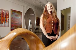 ART SCENE :  Gallery director Rachel Eckert believes Paso Robles is growing into a premiere art destination. - PHOTO BY STEVE E. MILLER