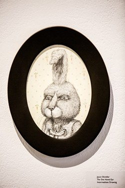 """RABBIT REDUX:  Jason Shindler's charming """"The One Hared Ear"""" looks like a portrait from a Wes Anderson film. - PHOTO BY HENRY BRUINGTON"""
