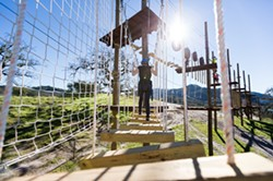 ZIP IT:  Vista Lago features four zip lines and four different challenge courses ranging from easy to extremely difficult. - PHOTO BY KAORI FUNAHASHI
