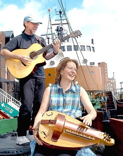 THE SEA IS CALLING :  Nautical songs of all different flavors come to life when William Pint and Felicia Dale take the stage at a SLOFolks concert on Friday, Sept. 12 at Coalesce in Morro Bay. - PHOTO COURTESY OF WILLIAM PINT AND FELICIA DALE
