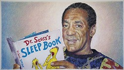 POKE THE BEAR:  Eric Yahnker of Los Angeles loves to play with bold, darkly humorous images surrounding celebrity. His portrait of Bill Cosby, pictured here, will show at Left Field Gallery's RTC presents 21st Century LOLs Vol. 1 through the month of August. - PHOTO COURTESY OF LEFT FIELD GALLERY