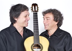 TWO GUITARS :  Steel string virtuoso Peppino D'Agostino (left) plays solo at Coalesce Bookstore on June 21 and again with classical guitarist David Tanenbaum (right) on June 22 at Castoro Cellars Winery. - PHOTO COURTESY OF PEPPINO D'AGOSTINO AND DAVID TANENBAUM