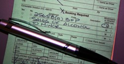 TAPPED OUT :  An alcohol citation, like this one provided by the SLOPD, could cost you $250 and up to 32 hours of community service for a first violation. - PHOTO COURTESY OF SLO POLICE DEPT.