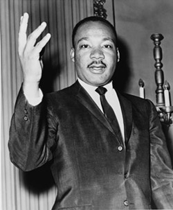 KEEP HIS DREAM ALIVE:  The life of Rev. Dr. Martin Luther King Jr. will be celebrated on Jan. 20 at Trinity Hall with music, video presentations of his speeches, and local speakers, with money raised benefiting the local food bank. - IMAGE SOURCED FROM WIKIPEDIA