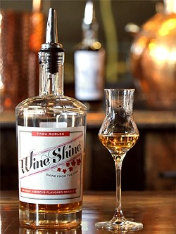 PROHIBITION NO MORE:  As a stand-alone distillery, Wine Shine, has the freedom to explore making a wider variety of products, like this lemon hibiscus brandy, which would go great in a cosmo. - PHOTO BY DYLAN HONEA-BAUMANN