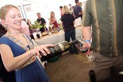 SIP CERTIFIED:  Amy Freeman, who was the winemaker for Saucelito Canyon—a label certified for sustainable production practices—graced the Earth Day Food & Wine Festival last year. - PHOTO COURTESY CENTRAL COAST VINEYARD TEAM