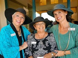 WIGS AND HATS:  Co-founders of Hats for Hope, Jeannie Miranda (left) and Judy Lundberg Wafer (center), and board member Diane Martino (right) will host their annual fundraising event on Oct. 11, which will generate thousands of free head coverings for Central Coast residents in chemotherapy. - PHOTO COURTESY OF DIANE MARTINO