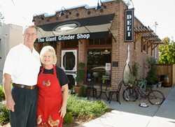 HOME OF HEROS :  Brad and Sherri fuller serve up the real thing: genuine, delicious, East Coast grinders - PHOTO BY STEVE E. MILLER