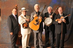 OLD SCHOOL COOL:  Masters of Bluegrass—J. D. Crowe, Bobby Hicks, Del McCoury, Jerry McCoury and Bobby Osborne—are coming to Performing Arts Center's Cohan Center on Oct. 6. - PHOTO COURTESY OF THE MASTERS OF BLUEGRASS
