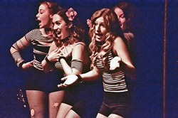 """ALL THAT JAZZ:  The ladies of """"Play On!"""" slink to the sounds of """"Cell Block Tango."""" - PHOTO BY JAMIE FOSTER"""