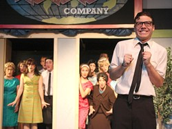 MR. FRUMP :  Cody Pettit dazzles as sniveling mama's boy Bud Frump in the SLO Little Theatre's production of How to Succeed in Business Without Really Trying. - PHOTO BY SANDRA CORTEZ