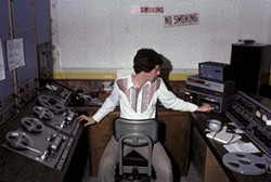 1979 :  Franklin Thomas in the old KCPR studio. Is that an 8-track player? - PHOTO COURTESY OF JERRY PEEK