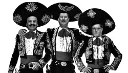 THREE AMIGOS :  With supervisors Harry Ovitt (right) and Jerry Lenthall (center) on their way out, the pro-development majority set out to ignore staff recommendations against some proposed projects. - ILLUSTRATION BY NEW TIMES STAFF