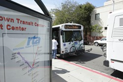 BUS-RIDER BLUES :  Fares for SLORTA buses are going up. - PHOTO BY STEVE E. MILLER