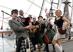 THAT'S NOT MR. T! :  The California Celts, in their kilted glory, will play two shows at Mr. Rick's this week: Jan. 16 and Jan. 17. - PHOTO COURTESY OF THE CALIFORNIA CELTS