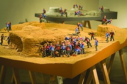 TIME OF TRIAL :  Part of a larger body of work, this piece by Clovis Blackwell parodies the notion of having superpowers. - PHOTO COURTESY OF TIM ANDERSON