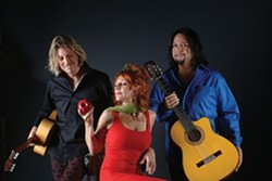 SPICY HOT!:  Latin guitar/world fusion trio Incendio plays July 11 at City Park in downtown Paso Robles during a free concert! - PHOTO COURTESY OF INCENDIO