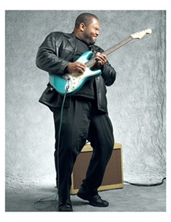 YOUNG GUN :  Awesome young blues ax man Kirk Fletcher will bring his ripping sounds to the SLO Vets Hall on Dec. 5. - PHOTO COURTESY OF KIRK FLETCHER