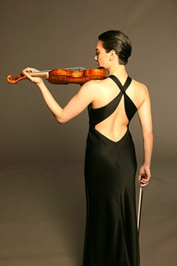 VIOLIN VIXON :  Acclaimed guest violinist Anne Akiko Meyers joins the SLO Symphony for a concert on Oct. 2 in the Performing Arts Center. - PHOTO COURTESY OF THE SLO SYMPHONY