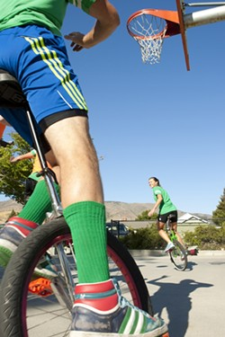 FROM DOWNTOWN :  The SLO Ballerz practice Tuesday nights at Meadow Park in San Luis Obispo. - PHOTO BY STEVE E. MILLER