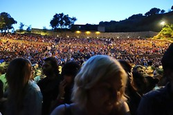 FULL HOUSE:  The sold-out crowd showered the band with love but made exiting the venue a long and tedious affair. - PHOTO BY GLEN STARKEY