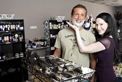 GET SUDSY :  Rich Covert and Tracy Bullock of Babylonian Soap Company make products that keep bath-time fun, fresh, and sulfate-free. - PHOTO BY STEVE E. MILLER