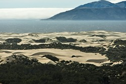 BURN MY DUST, EAT MY RUBBER :  The San Luis Obispo County Air Pollution District's plan to fine the state on days when particulate dust exceeds standards has attracted two lawsuits—now supported by the attorney general—just as administrators appeal to the state for help. - FILE PHOTO BY STEVE E. MILLER