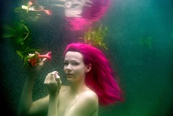 CREATURE OF THE DEEP :  While Mark Velasquez worked with professional model Raven La Faye for this shot, the Santa Maria photographer more often employs a regular gang of photogenic friends as muses. - PHOTO BY MARK VELASQUEZ