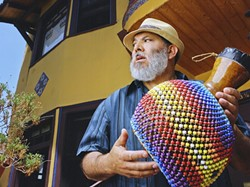 CONGUERO!:  Poncho Sanchez and His Latin Jazz Band headlines the 2014 Mercedes-Benz SLO Jazz Festival on May 17 in the SLO Mission Plaza. - PHOTO BY DEVIN DEHAVEN
