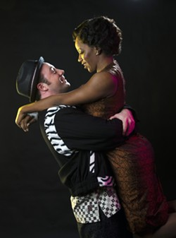 FORBIDDEN LOVE:  'Memphis: The Musical' follows the love story of Huey (left) and Felicia (right) who must overcome the prejudiced ban on interracial relationships during the 1950s. - PHOTO COURTESY OF CAL POLY ARTS