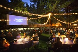 FILM UNDER THE STARS :  A summer screening series brings short films from around the world to Big Sur's Henry Miller Library. - PHOTO BY KODIAK GREENWOOD