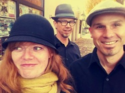 CELTIC CLASS :  Get into the Saint Paddy's Day spirit with Story Road—(left to right) Colleen Raney, Stuart Mason, and John Weed—playing March 12 in Painted Sky Studios. - PHOTO COURTESY OF STORY ROAD